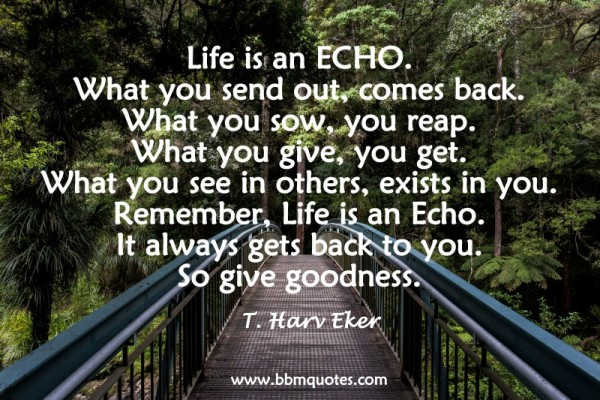 Life Is An Echo Quote Unique Quotetharv Eker  Bbm Quotes